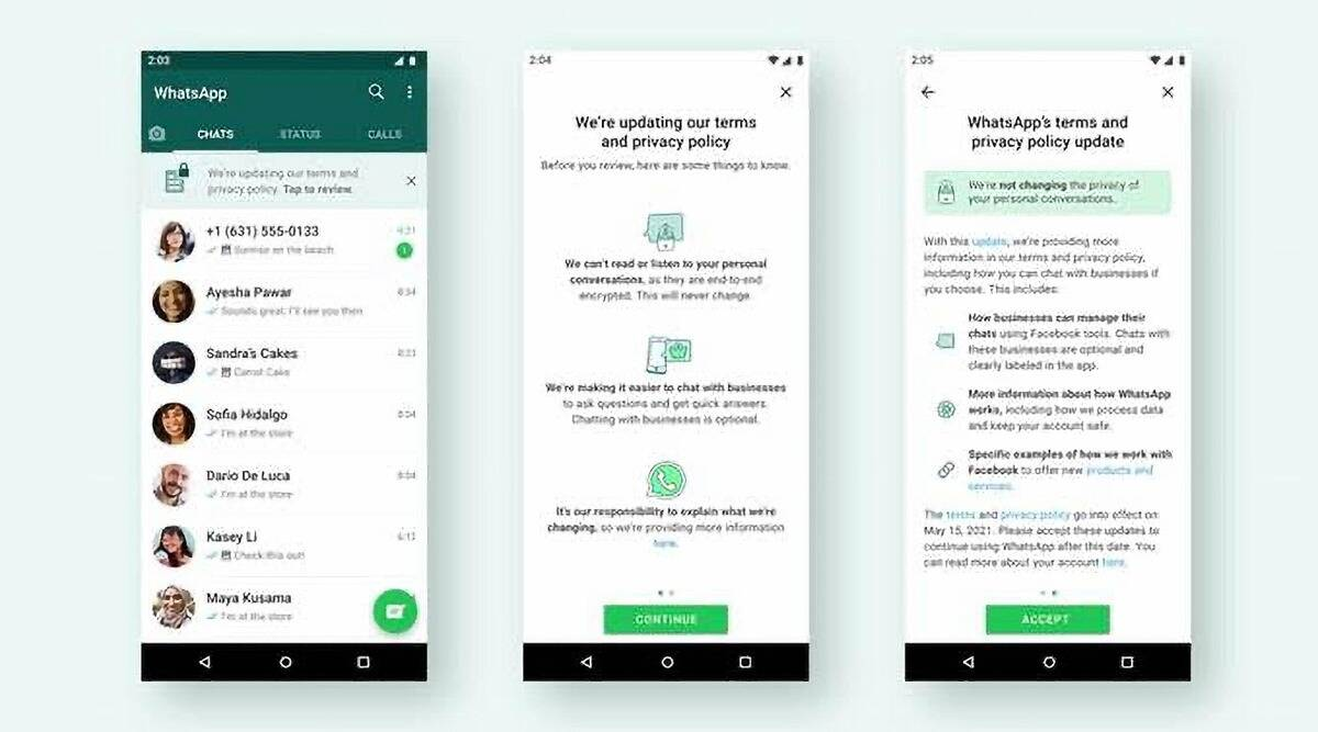 whatsapp new privacy policy update