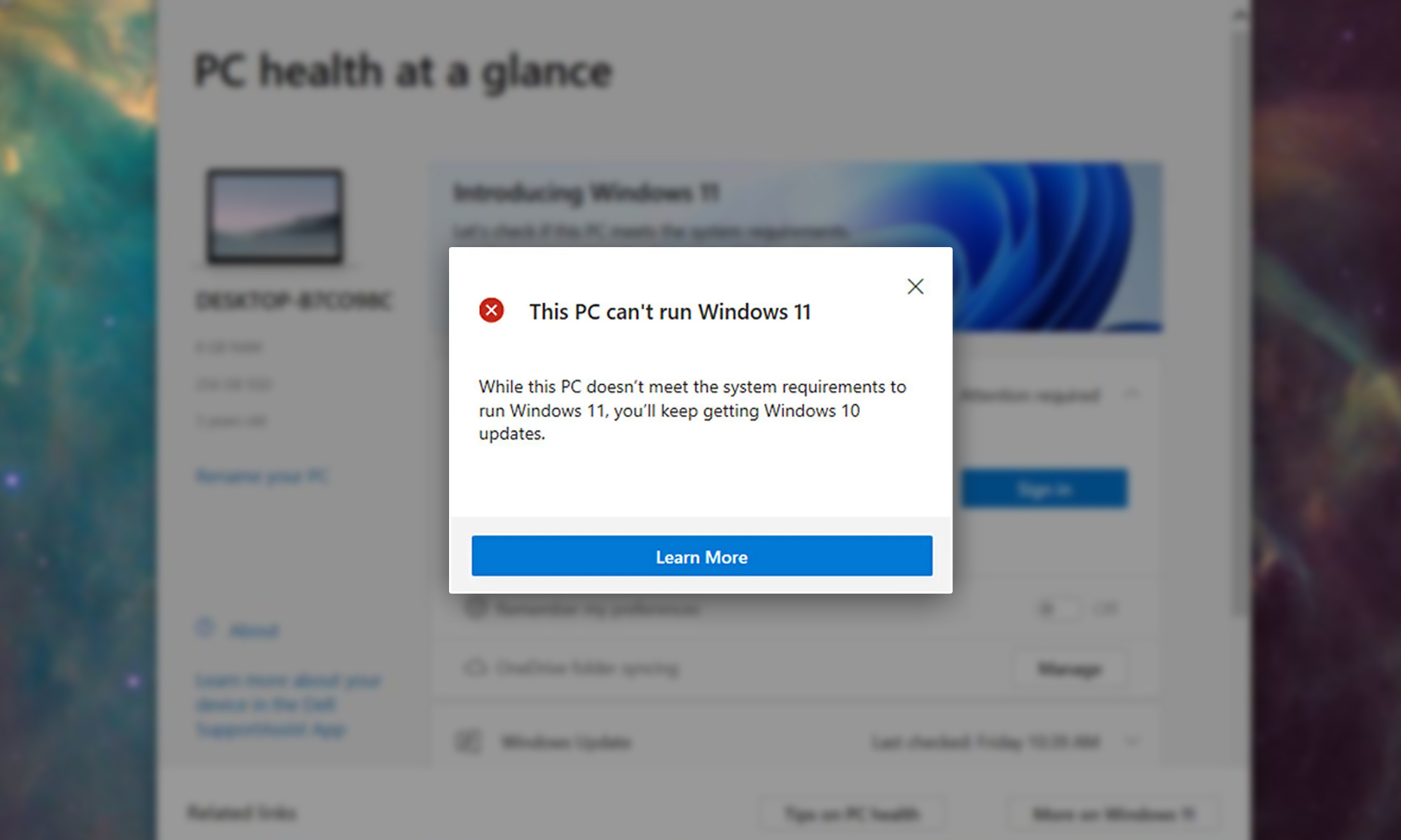windows 11 won't support many modern pcs is yours among them