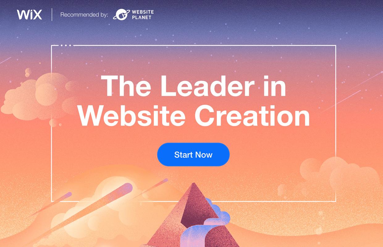 create a website wix homepage