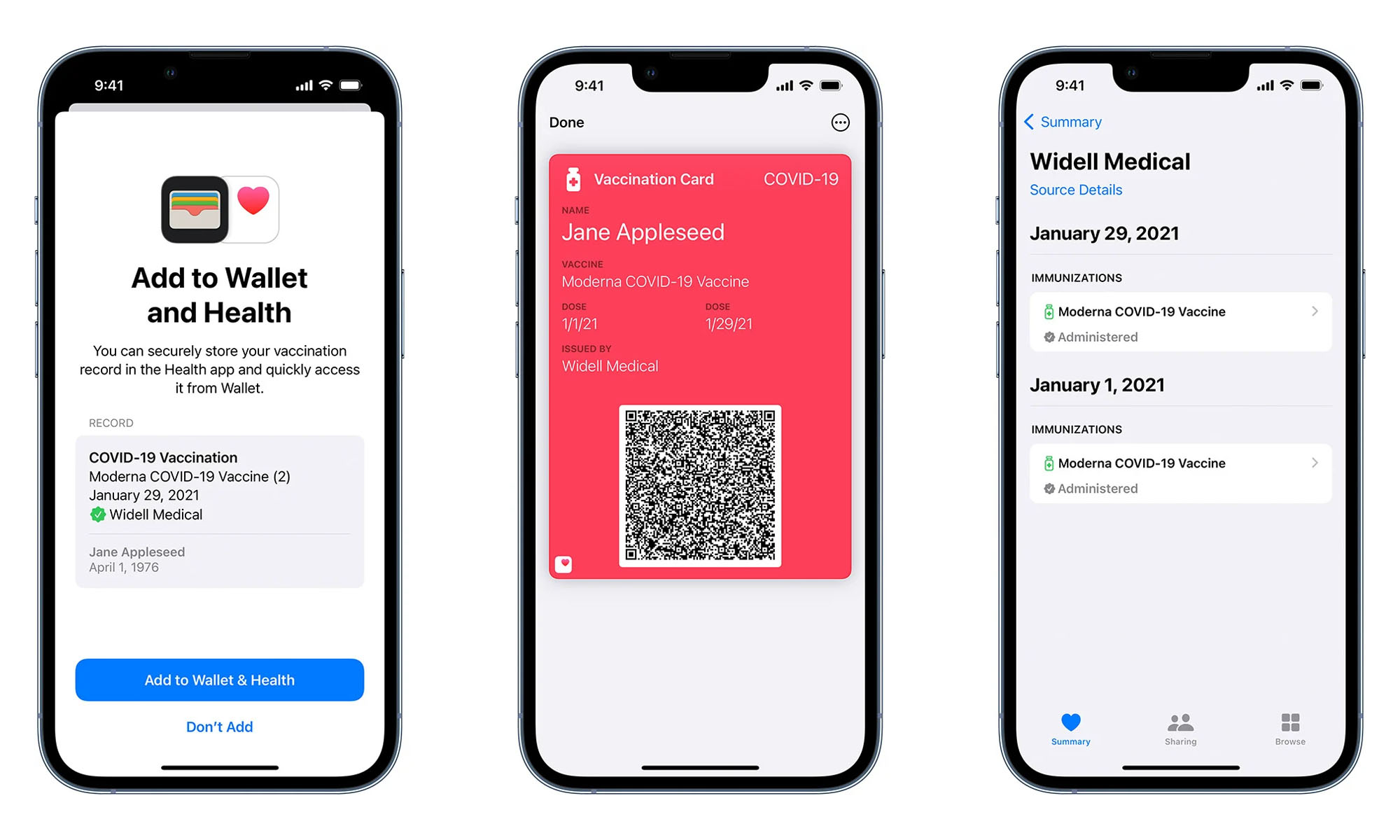 apple wallet covid-19 vaccination cards