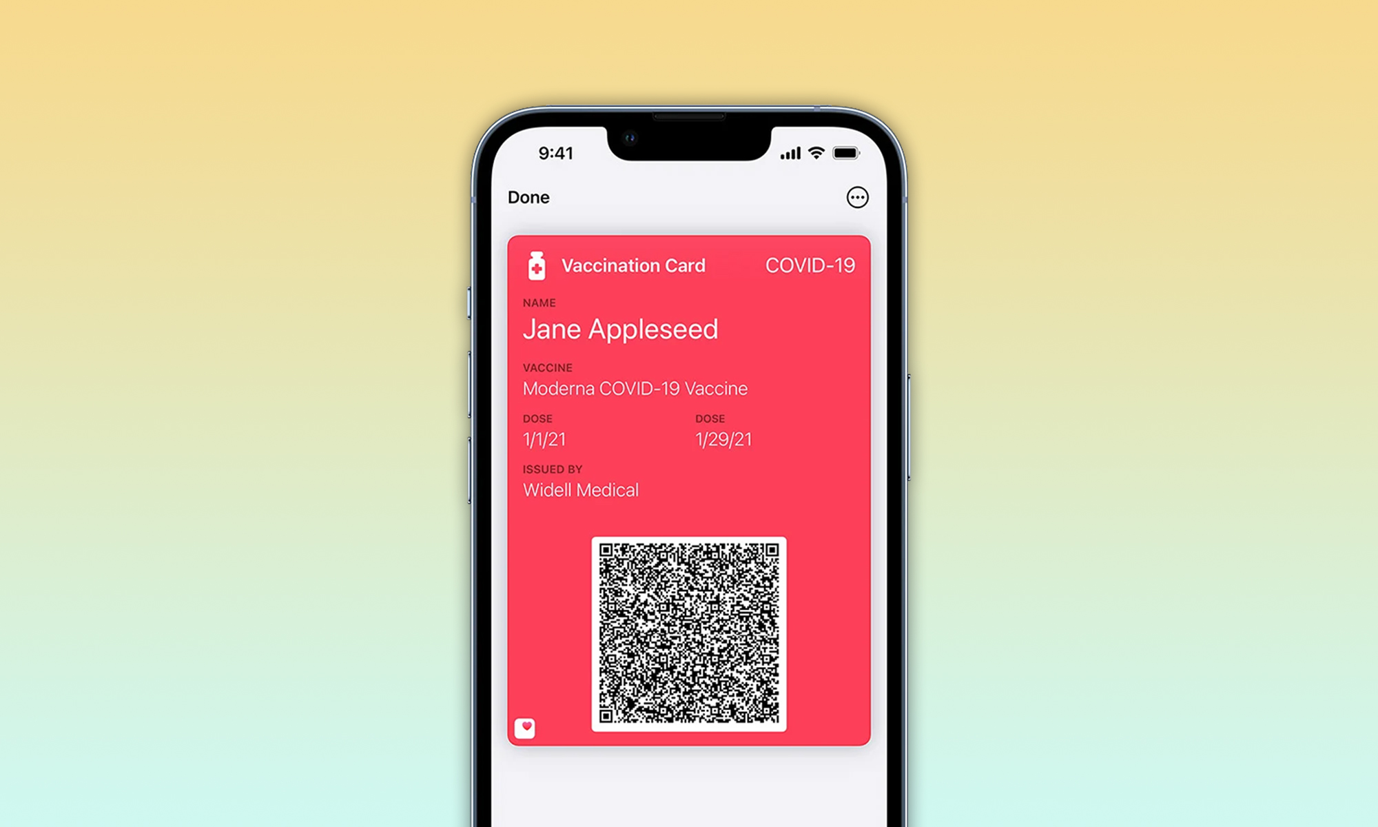 apple wallet will be able to store covid-19 vaccination cards