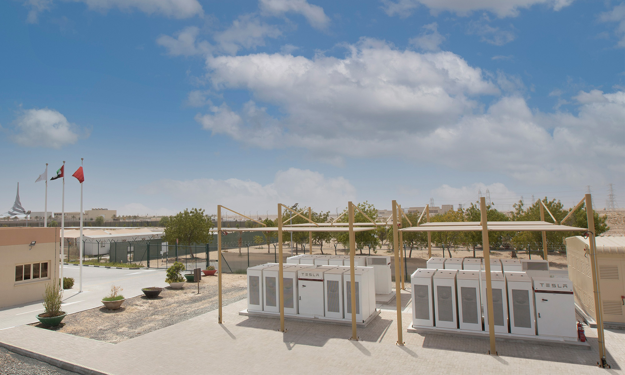 tesla batteries store sun's power at world's biggest solar farm in dubai