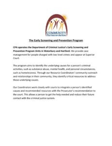 thumbnail of The Early Screening and Prevention Program