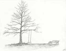"""Image of artwork """"Loneliness"""" by Lawrence Siminoff in Prison Arts Program"""