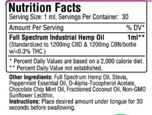 Therapeutic Releaf CBN Oil 2400mg Infused with CBD Oil