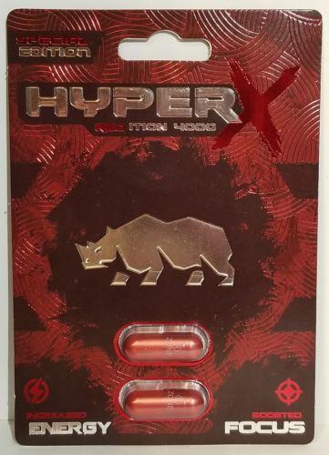 Hyper X 4000 Red 2ct Pill Pack Male Enhancement