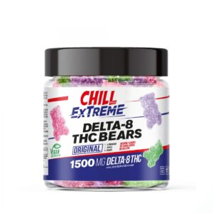 Chill Plus Extreme (Delta 8 THC 25mgs each) Vegan Gummies – 1500mg