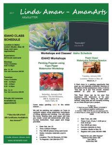 Aman Arts Newsleter - Current Classes Jan-Mar 2017
