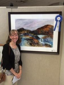 Linda with award winning painting