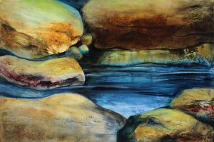 """A Still Place - 30"""" x 42"""" Original Acrylic on Wrapped Canvas :: SOLD"""