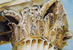 Crown of Greece - Original Framed Watercolor :: $450.00
