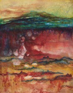 Landscape – Original Watercolor on Claybord :: SOLD