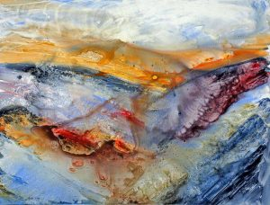 "Ocean Wings – 29""x 35"" Original Framed Acrylic :: $750.00"