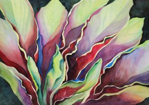 Reaching Colors – 28″ x 36″ Matted Ready To Frame Original Watercolor :: $950.00