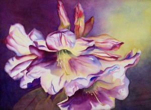 Sunlit – 31″ x 37″ Original Framed Watercolor :: $850