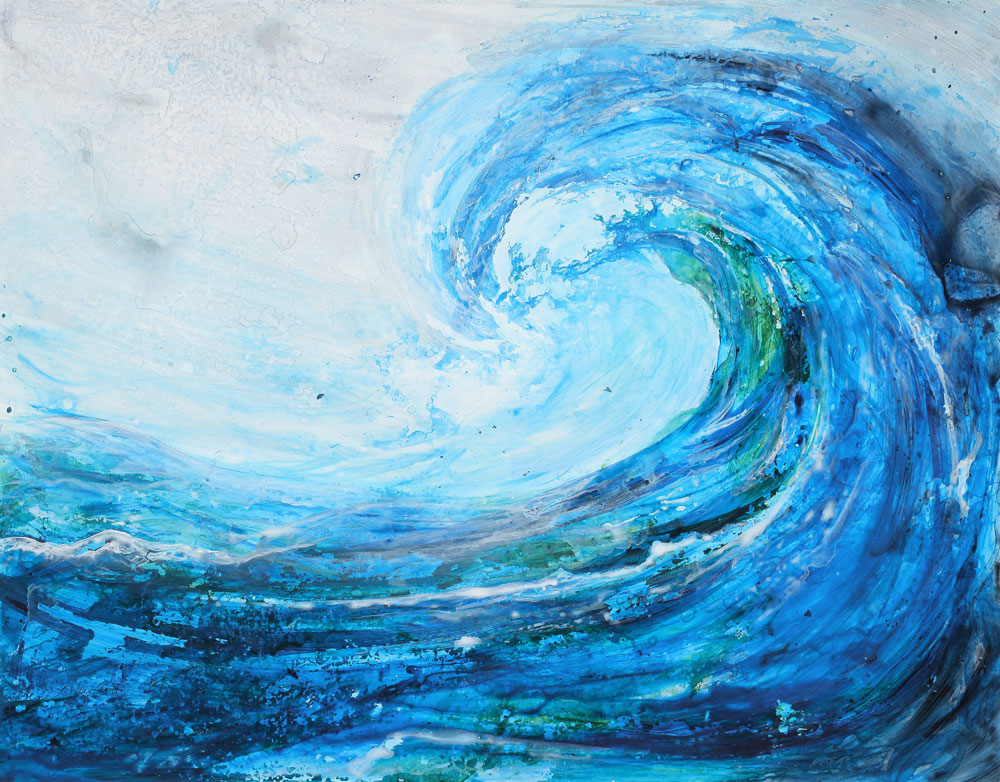 """The Wave – 20"""" x 26"""" Original Ready to Frame Acrylic :: SOLD"""