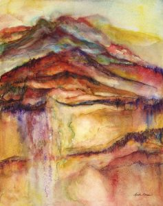 Earths Terrain – 12″ x 15″ Original Watercolor on Claybord :: SOLD
