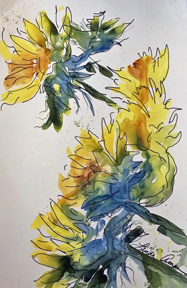 Sunflower Shadows :: SOLD