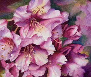 "Affluence - 25"" x 20"" Original Framed Watercolor :: $350"