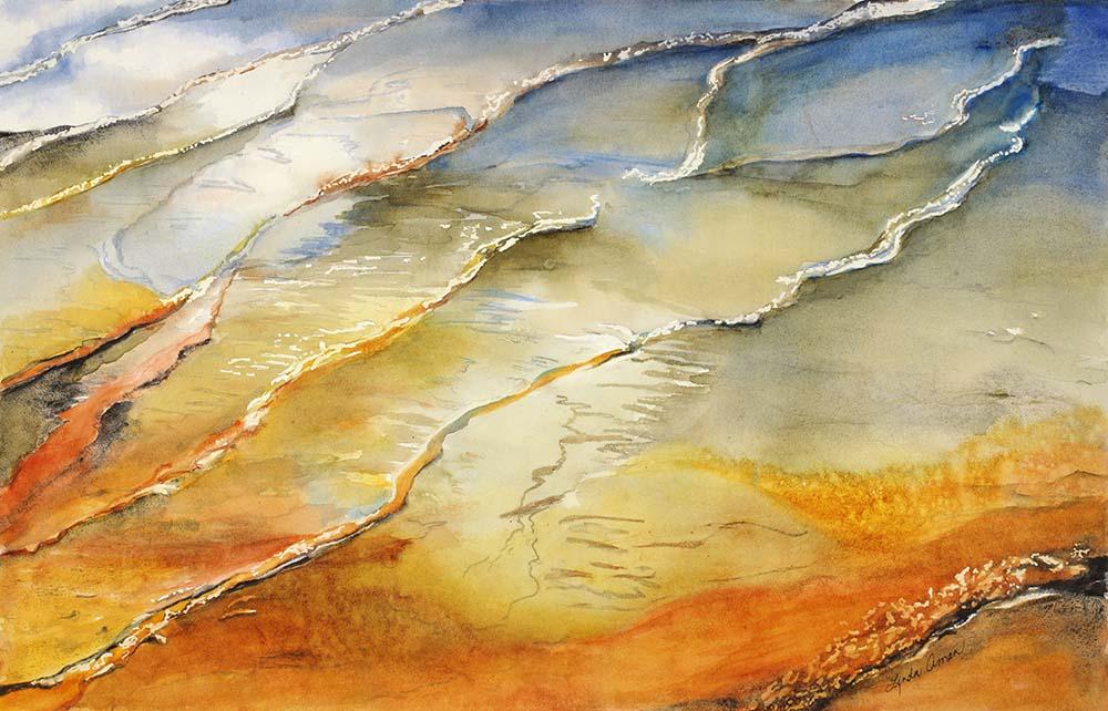Prismatic Springs Original Watercolor - Fine Art Print