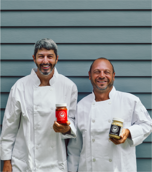 Scott Sheridan and James Cole owners of Scotty's Stout Kraut
