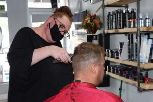 Miranda at Tyler'z Barbershop
