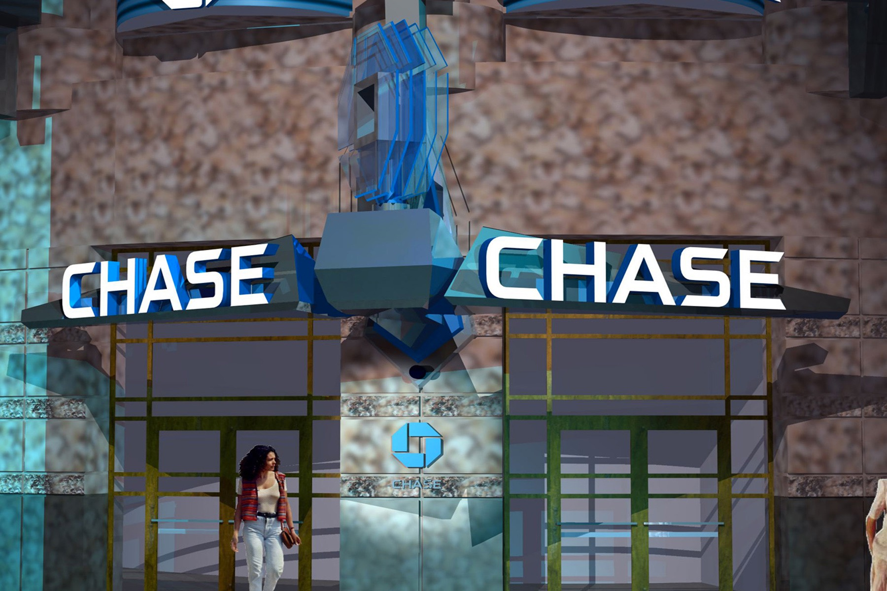 Chase Bank Flagship Signage in Times Square