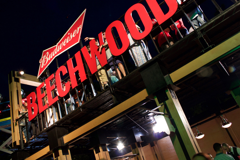 Budweiser Beechwood House during the concert
