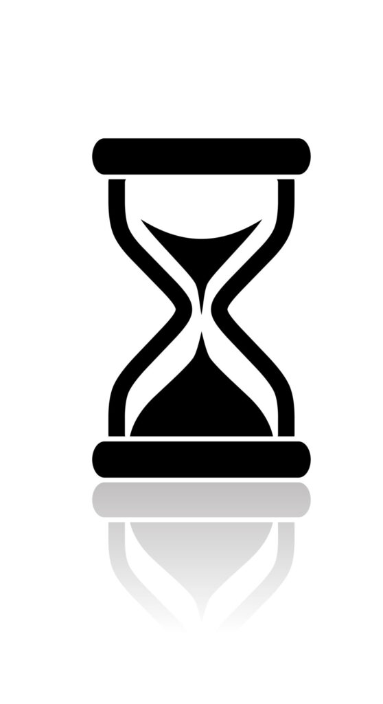 Hourglass representing time blindness
