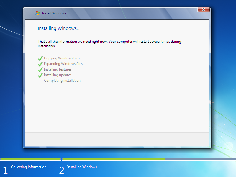 how to install window 7  Step 11