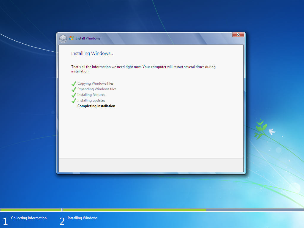 how to install window 7  Step 15