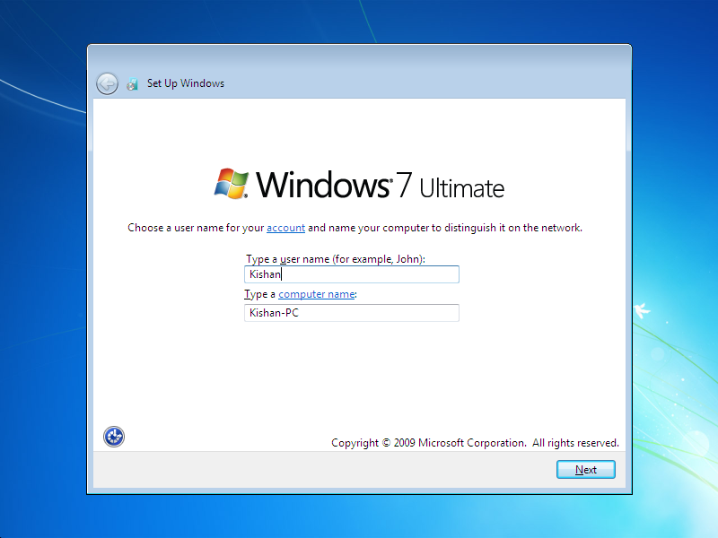 how to install window 7  Step 18