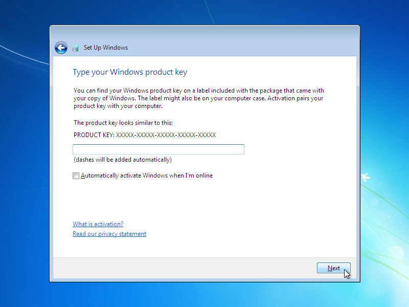 how to install window 7  Step 20