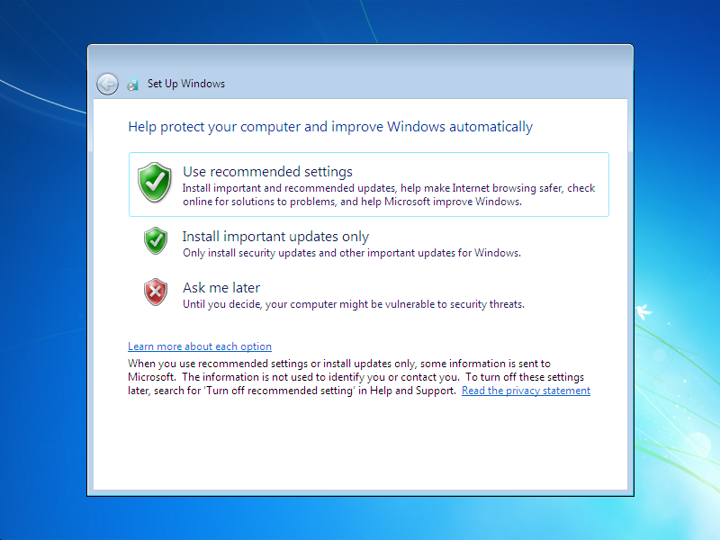 how to install window 7  Step 21
