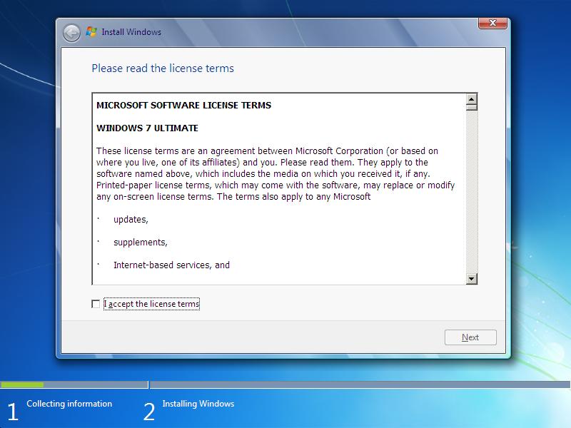 window 7 installation step 4