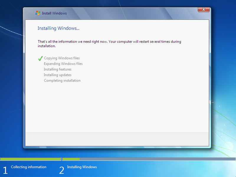 how to install window 7  Step  7