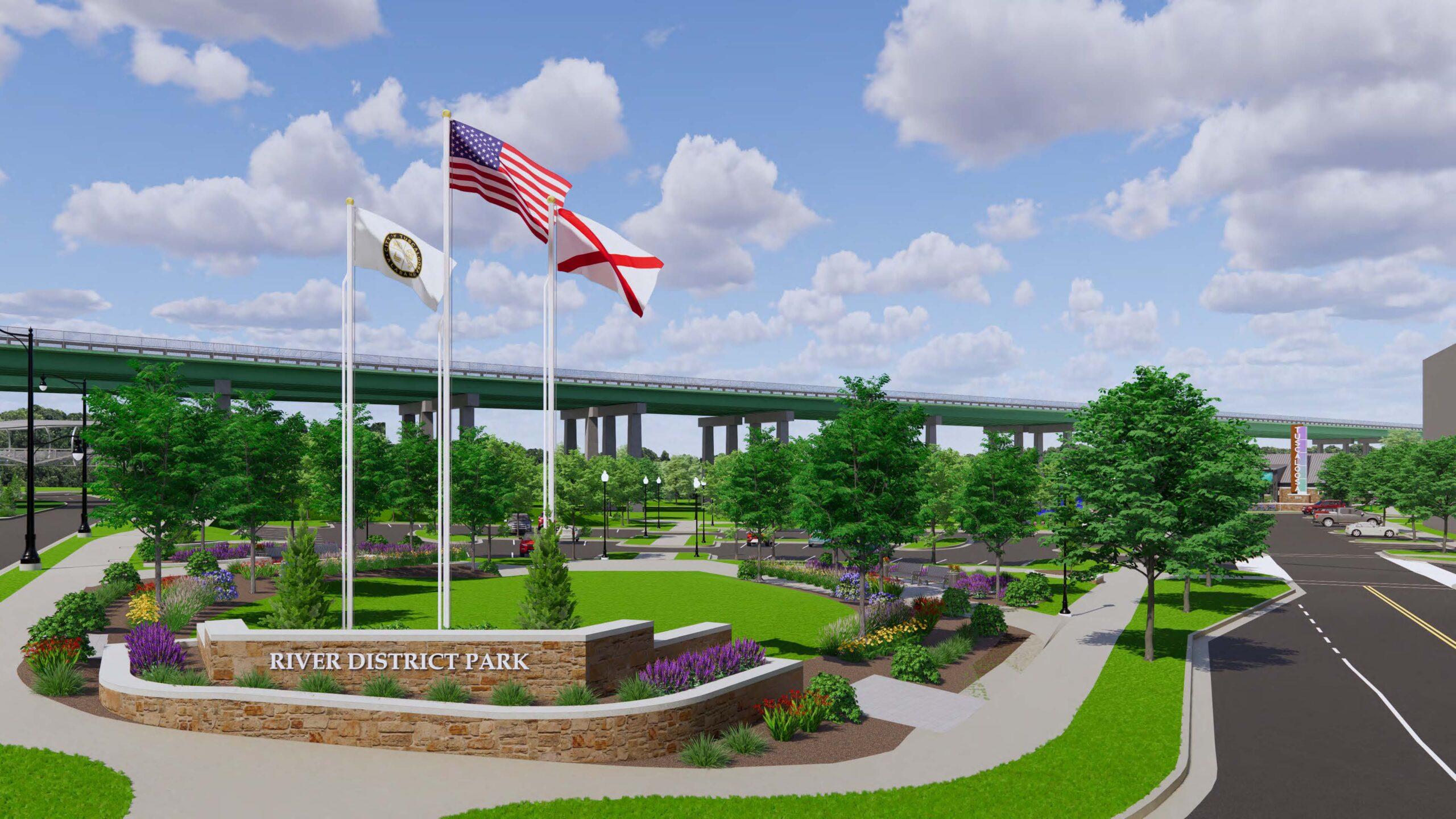 River District Park Entrance