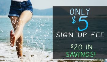 $5 Sign Up on all Month to Month Memberships