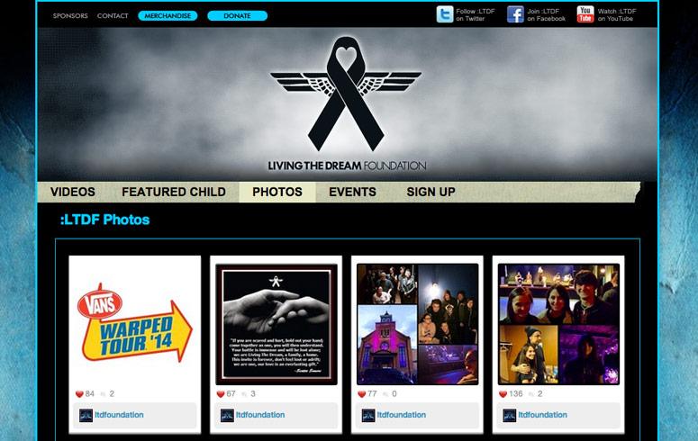 Custom WordPress Template for Living The Dream Foundation