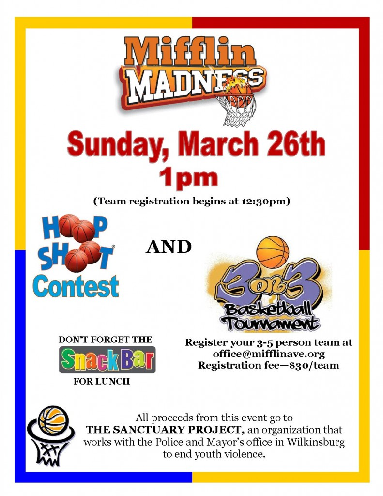 Mifflin March Madness Flyer 2017 image
