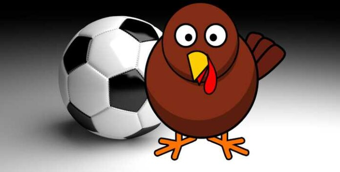 Turkeys Playing Soccer