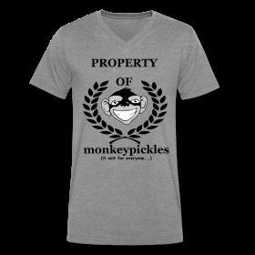 Monkey Pickles Men's V-Neck T-Shirt, Monkey Pickles Gear, Monkey Pickles Spreadshirt, Official Monkey Pickles, Monkey Pickles Shirts