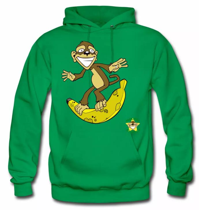 Monkey Pickles Surfs Up Bananers Hoodie, Monkey Pickles Gear, Monkey Pickles Spreadshirt, Official Monkey Pickles