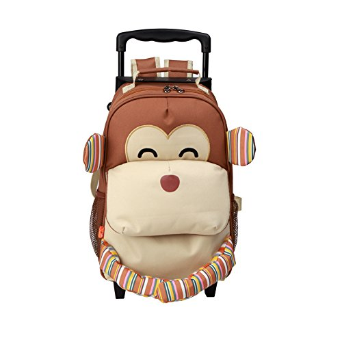 These cute monkey suitcases are great for school, traveling, daycare, play dates, and more! Travel in animal style with monkey luggage.