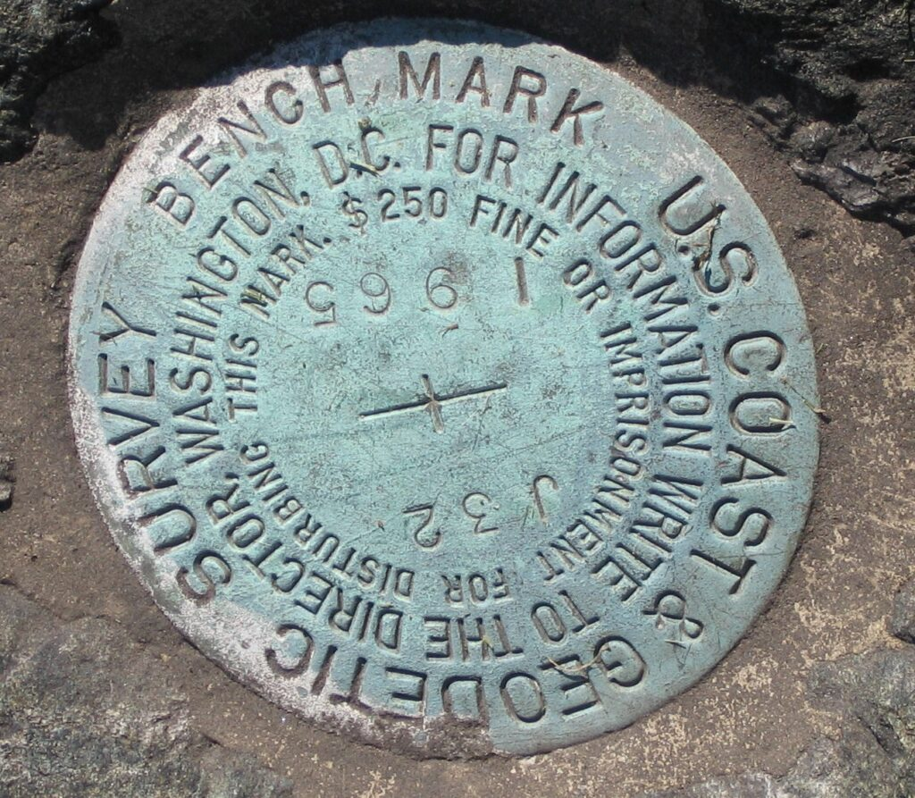 marker embedded in a large rock in front of the Noroton Volunteer Fire Department, Darien, Connecticut.