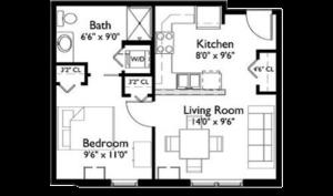 EastView Floor Plan Clover