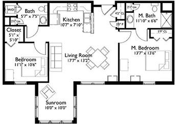 EastView Floor Plan Lavender