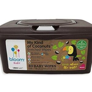 bloom BABY My Kind of Coconuts Baby Wipes Tub (80 Count)