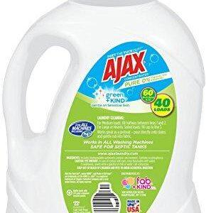 Ajax Laundry Pure Unscented Liquid Laundry Detergent, 60 Fluid Ounce