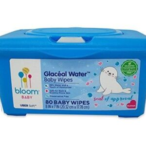 bloom BABY Glaceal Water Sensitive Skin Baby Wipes Tub – 80 Count